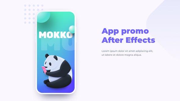 Thumbnail for Mokko - Aplicación Promo Mock-up Presentación Móvil
