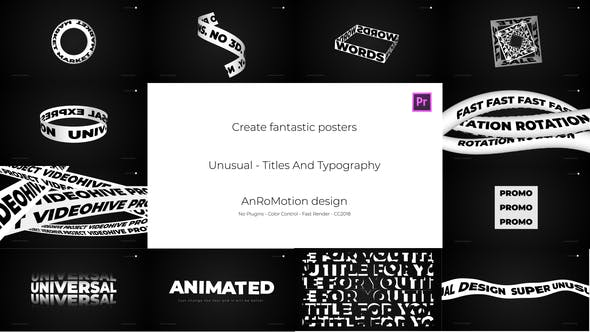 Thumbnail for Unusual - Titles And Typography