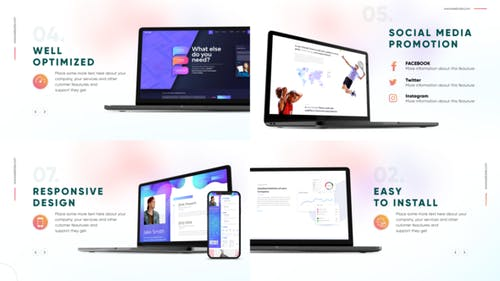 Website Presentation with Devices