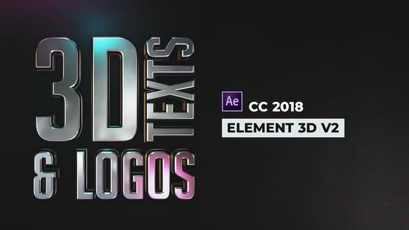 Thumbnail for Textes et Logos 3D élégants