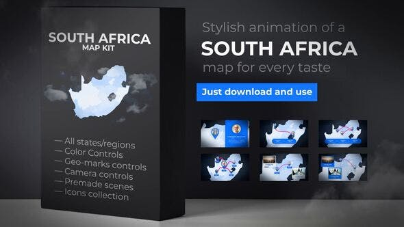 Thumbnail for South Africa Map - Republic of South Africa Map Kit