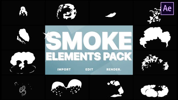 Thumbnail for 2DFX Smoke Elements | After Effects