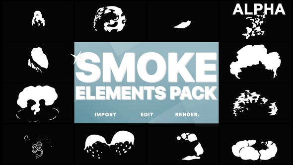 Thumbnail for 2D FX Smoke Elements | Motion Graphics Pack