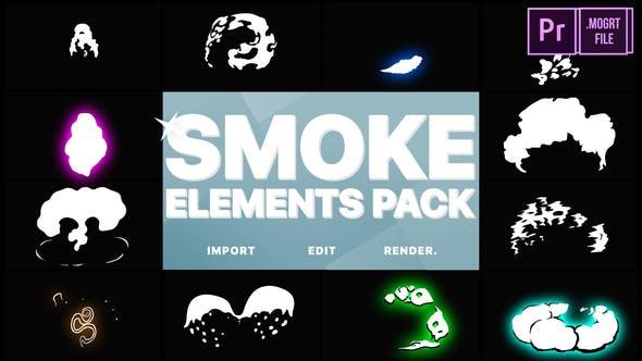 Thumbnail for 2DFX Smoke Elements | Premiere Pro MOGRT