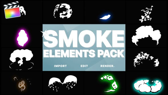 Thumbnail for 2DFX Smoke Elements Pack | Final Cut