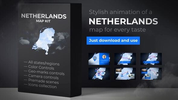 Thumbnail for Netherlands Map Kit - Kingdom of the Netherlands Map