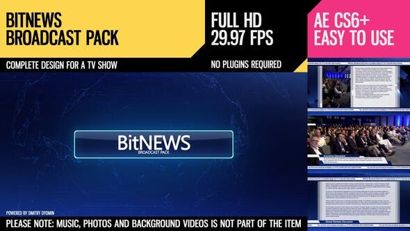 Thumbnail for BitNews (Broadcast Pack)