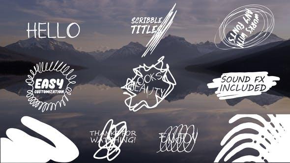 Cartoon Scribble Titles | After Effects + MOGRT