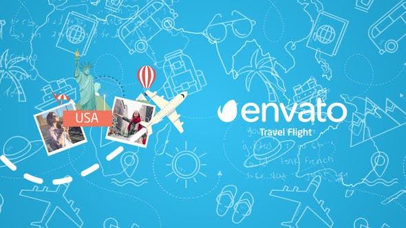 Thumbnail for Travel Flight Logo