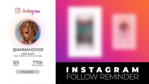 Instagram Follow Reminder