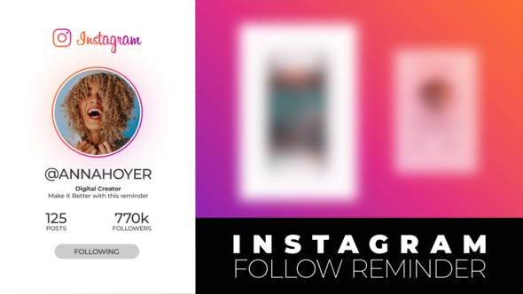 Thumbnail for Instagram Follow Reminder