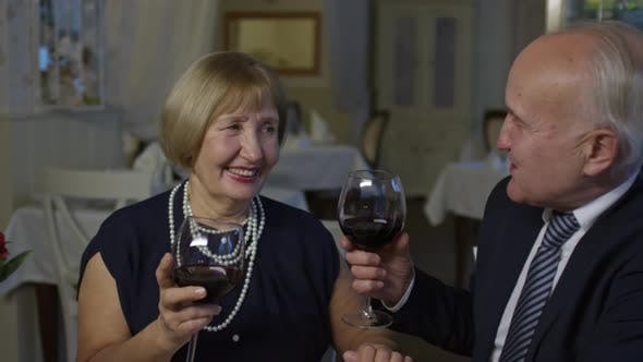 Thumbnail for Senior Couple Enjoying Romantic Dinner