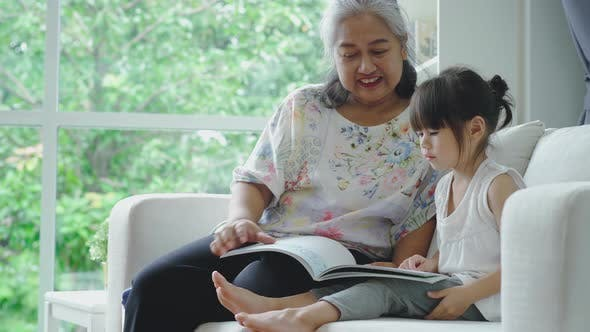 A Grandmother Teaching her Granddaughter 03