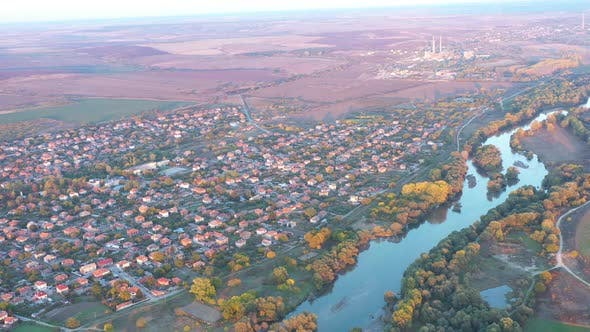 Aerial View Of Maritsa River In Bulgaria 4