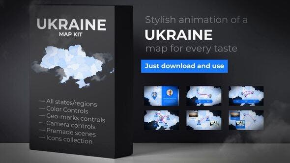 Ukraine Map - Ukraine UKR Map Kit