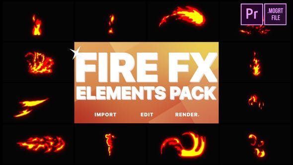 Thumbnail for Flash FX Fire Elements | Premiere Pro MOGRT