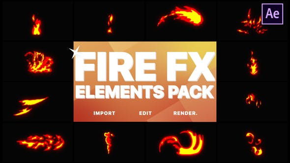 Thumbnail for Flash FX Fire Elements | After Effects