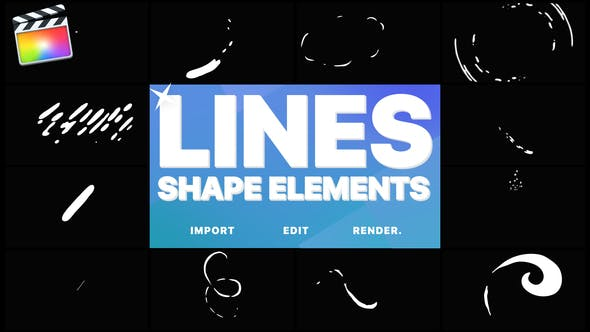 Thumbnail for Flash FX Shape Lines | FCPX