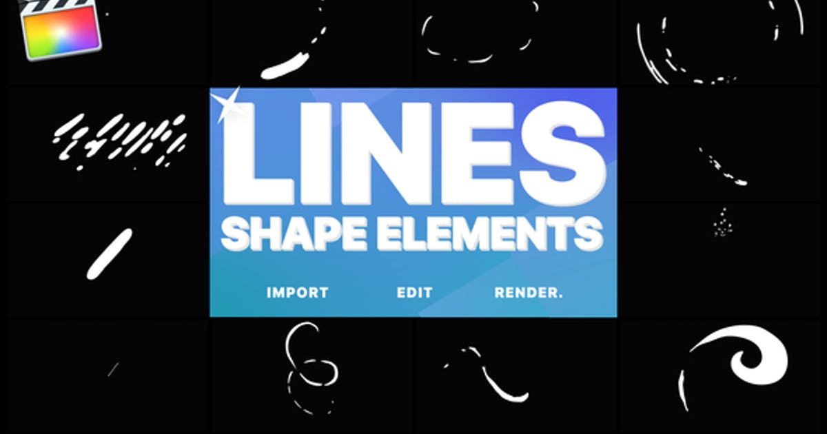 Flash FX Shape Lines | FCPX