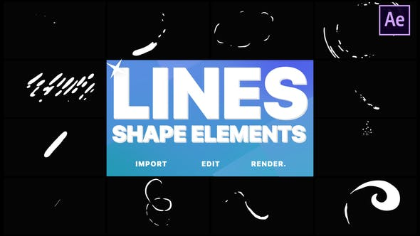 Thumbnail for Flash FX Shape Lines | After Effects