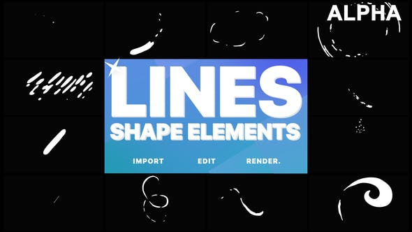 Thumbnail for Flash FX Shape Lines | Motion Graphics Pack
