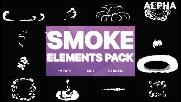 Thumbnail for Flash FX Smoke Elements | Motion Graphics Pack