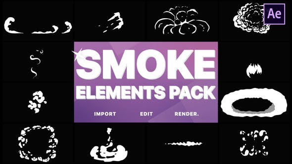 Thumbnail for Flash FX Smoke Elements | After Effects