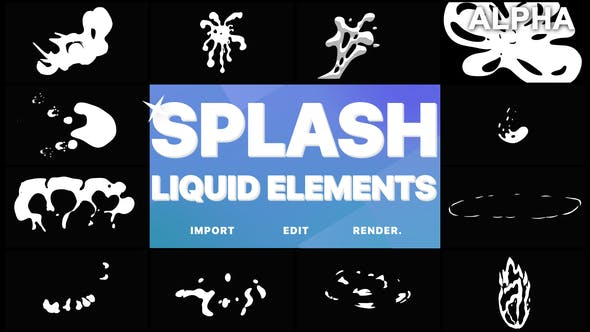 Thumbnail for Splash Elements | Motion Graphics Pack