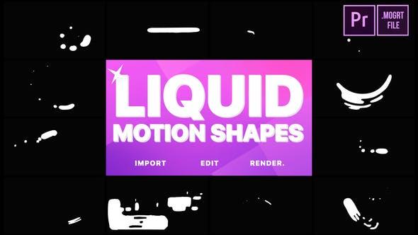 Thumbnail for Liquid Motion Shapes | Premiere Pro MOGRT