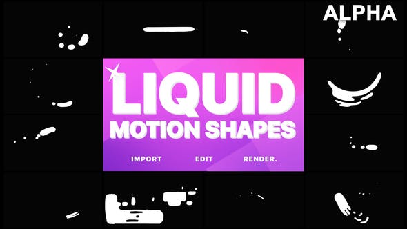 Thumbnail for Liquid Motion Shapes | Motion Graphics Pack