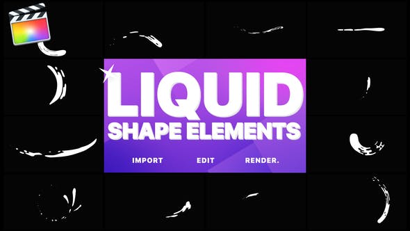 Thumbnail for Liquid Shape Elements | FCPX