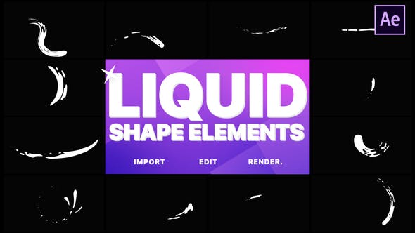 Thumbnail for Liquid Shape Elements | After Effects