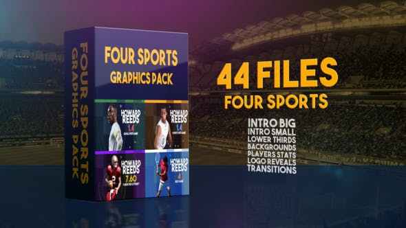 Thumbnail for Four Sports Graphics Pack