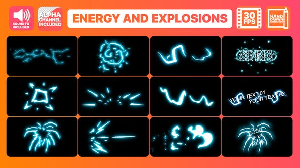 Thumbnail for Energy And Explosion Elements + Titles | Premiere Pro MOGRT