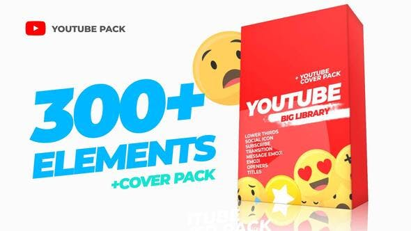 Thumbnail for 300 Youtube Library and Сover pack