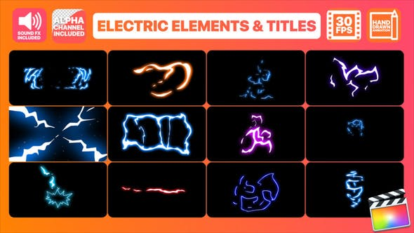 Thumbnail for Flash FX Electric Elements Transitions And Titles | FCPX