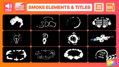 Flash FX Smoke Elements And Titles | FCPX