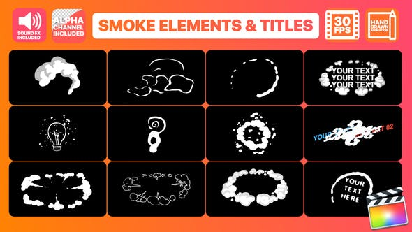 Thumbnail for Flash FX Smoke Elements And Titles | Final Cut Pro