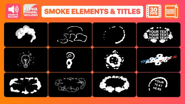 Thumbnail for Flash FX Smoke Elements And Titles | Premiere Pro MOGRT