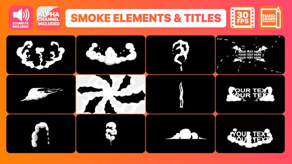 Thumbnail for Hand Drawn Smoke Elements Transitions And Titles | Premiere Pro MOGRT