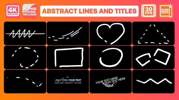 Thumbnail for Abstract Lines And Titles | Premiere Pro MOGRT