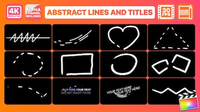 Abstract Lines And Titles   FCPX