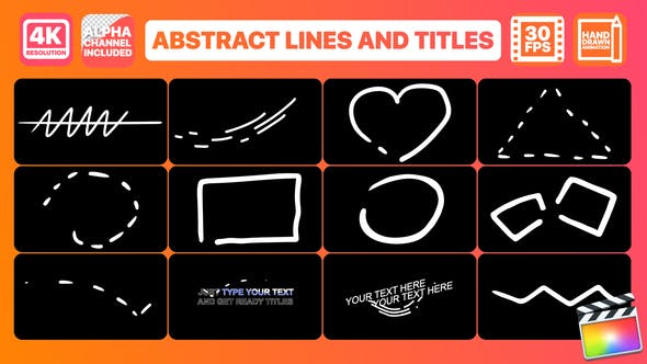 Thumbnail for Abstract Lines And Titles | Final Cut Pro