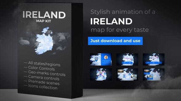 Ireland Map - Ireland Animated Map Kit