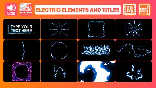 Electric Elements And Titles | Premiere Pro MOGRT