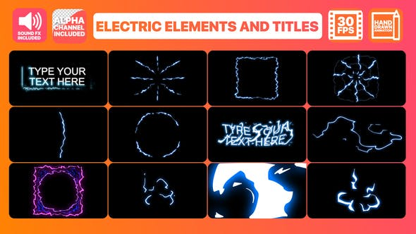 Thumbnail for Electric Elements And Titles | Premiere Pro MOGRT