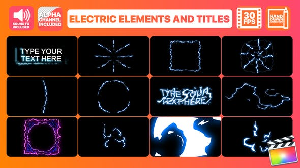 Thumbnail for Electric Elements And Titles | FCPX