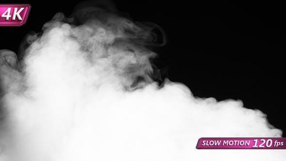 Sharp Stream Of White Smoke