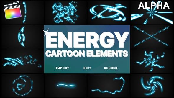Thumbnail for Éléments énergétiques de dessin animé | FCPX