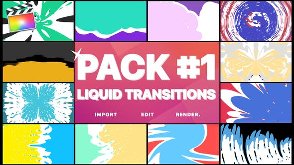 Thumbnail for Liquid Transitions Pack 01 | Final Cut